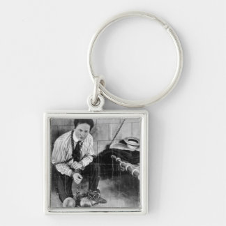 Harry Houdini About to Escape from Prison Keychain