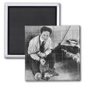 Harry Houdini About to Escape from Prison Fridge Magnet