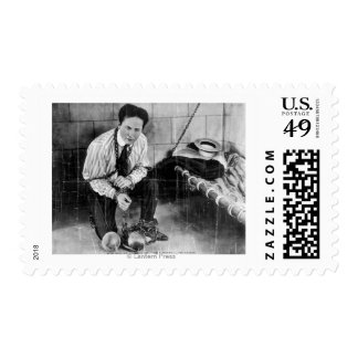 Harry Houdini About to Escape from Prison Postage