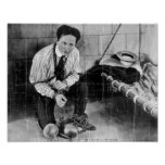 Harry Houdini About to Escape from Prison Print