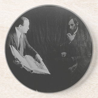 Harry Houdini and the Ghost of Abraham Lincoln Drink Coaster