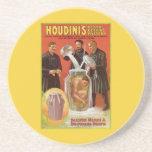 Harry Houdini, anuncio de desafío del vintage del  Posavasos Manualidades