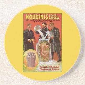 Harry Houdini, anuncio de desafío del vintage del  Posavaso Para Bebida