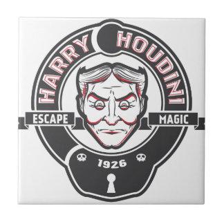 Harry Houdini Azulejo Cuadrado Pequeño