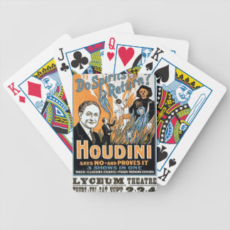 harry houdini bicycle playing cards