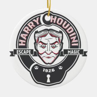 Harry Houdini Ceramic Ornament