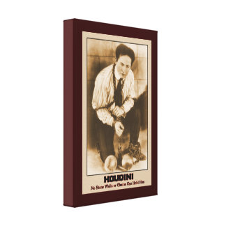 Harry Houdini Escape Artist Gallery Wrapped Canvas