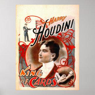 Harry Houdini - King of Cards 1895 Print