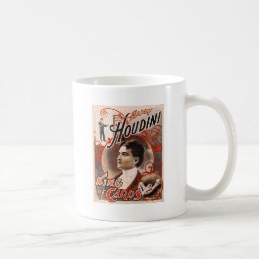 Harry Houdini King Of Cards Coffee Mug
