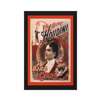 Harry Houdini King of Cards Digitally Remastered Canvas Prints
