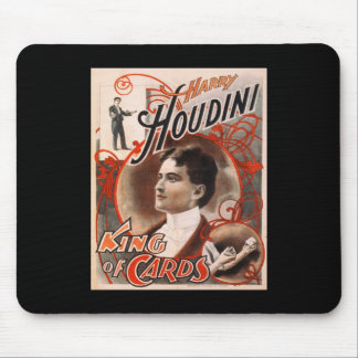 Harry Houdini King Of Cards Mouse Pad