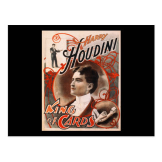 Harry Houdini King Of Cards Post Cards