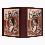Harry Houdini King Of Cards Vinyl Binder