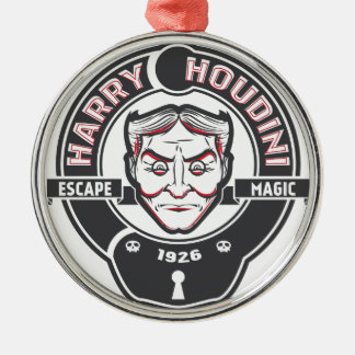Harry Houdini Metal Ornament