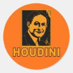 Harry Houdini Poster T shirts, Mugs, Gifts Round Sticker