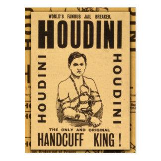 ¡Harry Houdini, rey de la esposas! Tarjetas Postales
