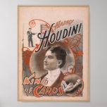 """Harry Houdini, """"rey teatro del vintage de las tarj Impresiones"""