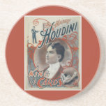 Harry Houdini Vintage Magician Poster Drink Coaster