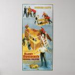 Harry Houdini, vintage vivo enterrado Poster, 1914