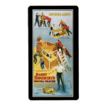 Harry Houdini, vintage vivo enterrado Poster, 1914 Etiqueta De Envío