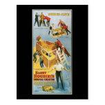 Harry Houdini, vintage vivo enterrado Poster, 1914 Postales