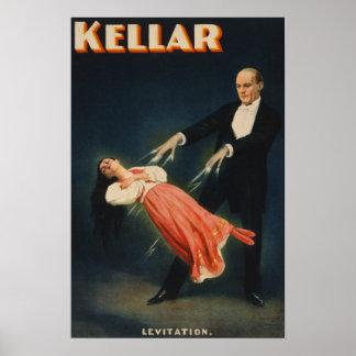 Harry Kellar Illusionist, Levitation Poster