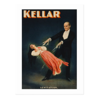 "Harry Kellar, ""Levitation"" Postcard"
