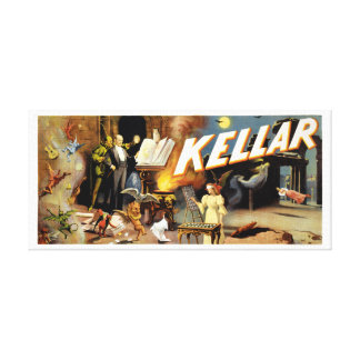 Harry Kellar Magician 1894 Vintage Poster Restored Canvas Print