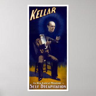 Harry Kellar Magician 1897 Vintage Poster Restored