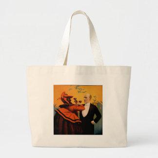 Harry Kellar Magician Closeup Jumbo Tote Bag