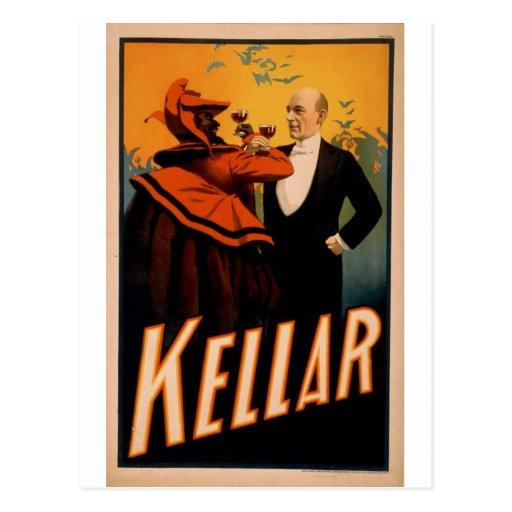 Harry Kellar Magician Postcard