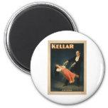 Harry Kellar realiza magia de la levitación 1895 Iman De Nevera