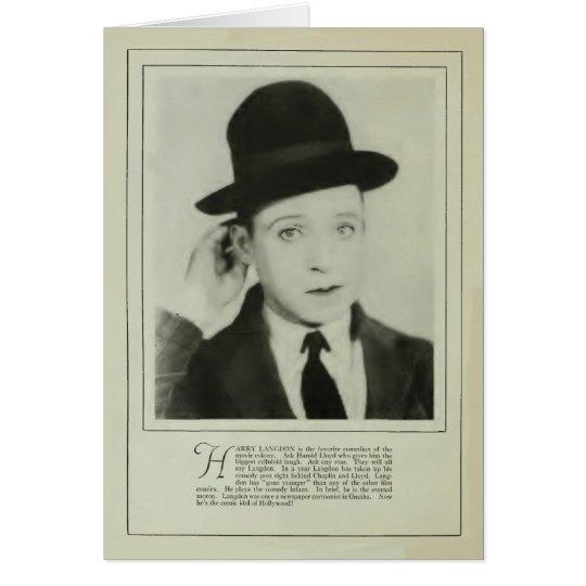 Harry Langdon 1926 vintage portrait card