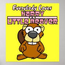 Harry Little Beaver Poster