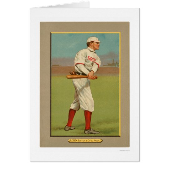 Harry Lord Red White Sox Baseball 1911 Card