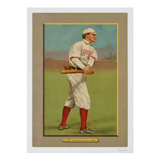 Harry Lord Red White Sox Baseball 1911 Poster