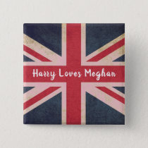 Harry LOVES Meghan Royal Wedding Square Button