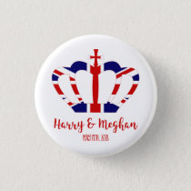 Harry & Meghan Crown | Royal Wedding Celebration Button