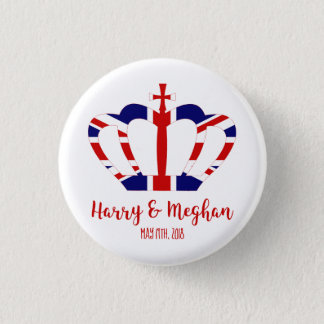 Harry & Meghan Crown | Royal Wedding Celebration Button