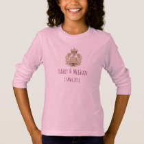 Harry & Meghan Royal Wedding Girls T-Shirt Pink