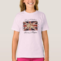 Harry Meghan Royal Wedding Kids T-Shirt