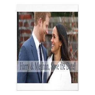 Harry & Meghan, Save the Date! Magnetic Invitation