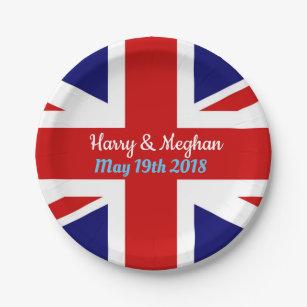 Harry u0026 Meghan Union Jack. Paper Plate  sc 1 st  Zazzle & Union Jack Plates | Zazzle