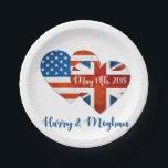 "Harry &amp; Meghan Wedding, May 19th 2018 Paper Plate<br><div class=""desc"">When Harry met Meghan ... . It&#39;s official: Prince Harry popped THE question and put a ring on it! It&#39;s going to be a spring wedding.</div>"