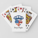 """Harry &amp; Meghan Wedding, May 19th 2018 Playing Cards<br><div class=""""desc"""">When Harry met Meghan ... . It&#39;s official: Prince Harry popped THE question and put a ring on it! It&#39;s going to be a spring wedding.</div>"""