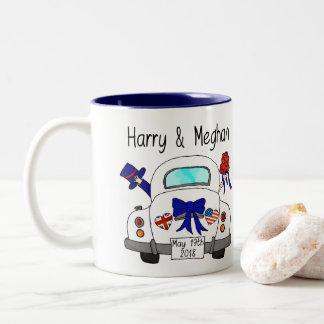 Harry & Meghan Wedding, May 19th 2018 Two-Tone Coffee Mug