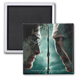 Harry Potter 7 Part 2 - Harry vs. Voldemort 2 Inch Square Magnet