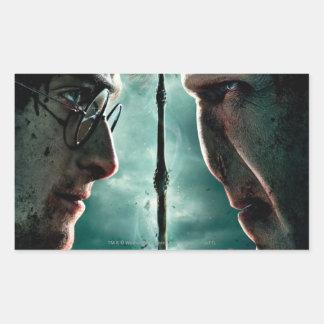 Harry Potter 7 Part 2 - Harry vs. Voldemort Rectangular Sticker