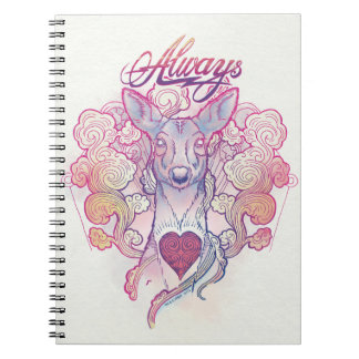 "Harry Potter | ""Always"" Doe Patronus Spiral Notebook"