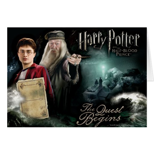 Harry Potter And Dumbledore Greeting Card